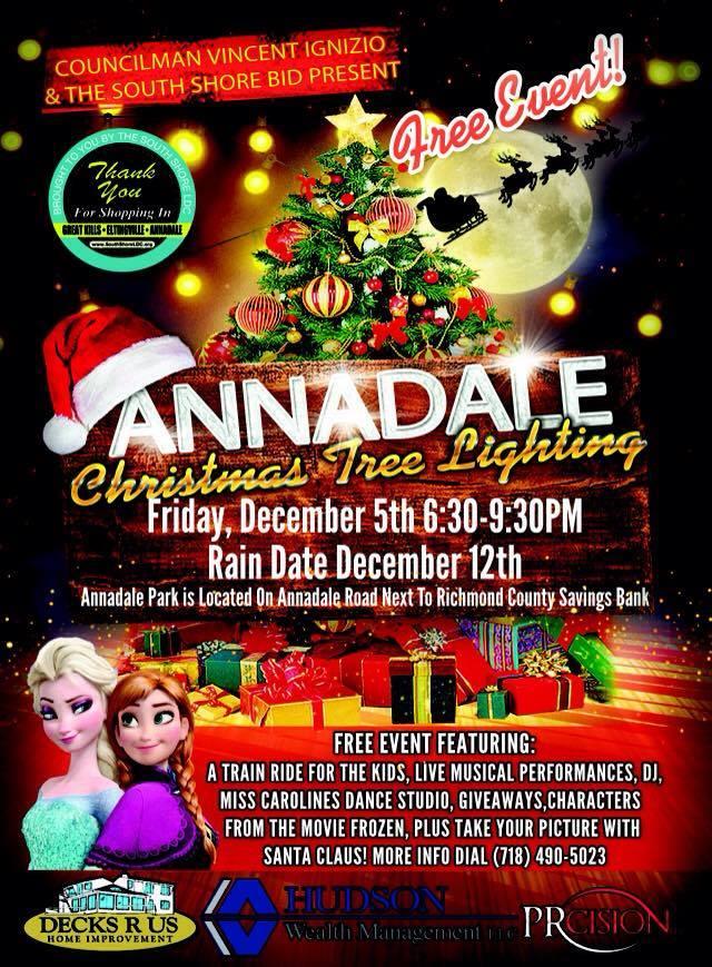 Annadale Christmas Tree Lighting  Staten Island