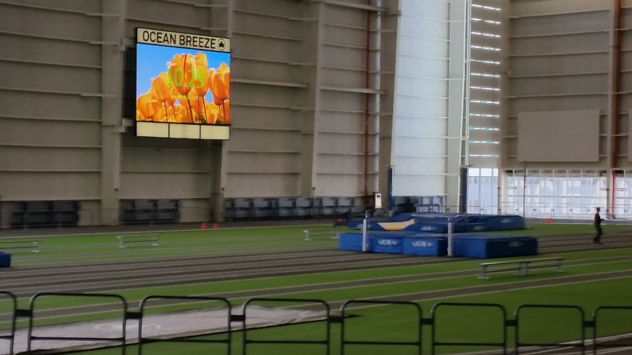 Long Island Banked Indoor Track